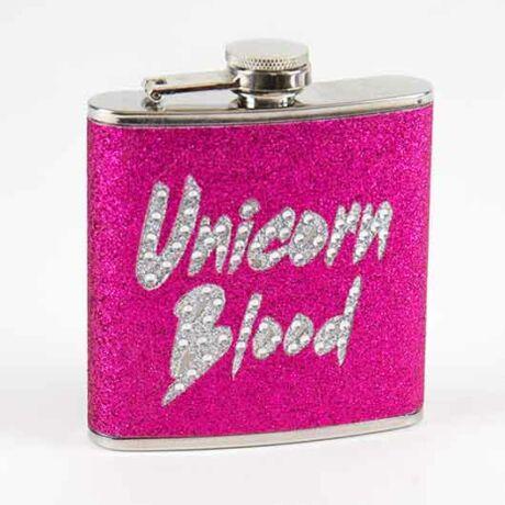 Unikornis vér csillogó flaska