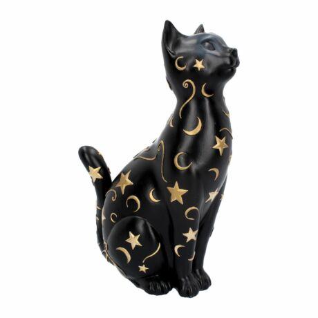 Mágikus fekete macska szobor
