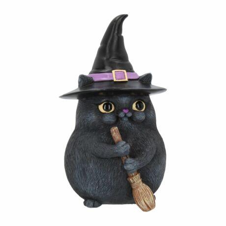 Szerencsehozó fekete macska szobor