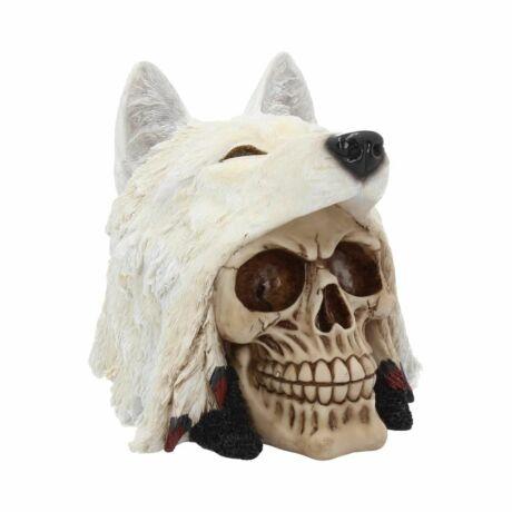 Éjszakai farkas koponya szobor