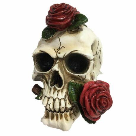 Halálos vallomás koponya szobor