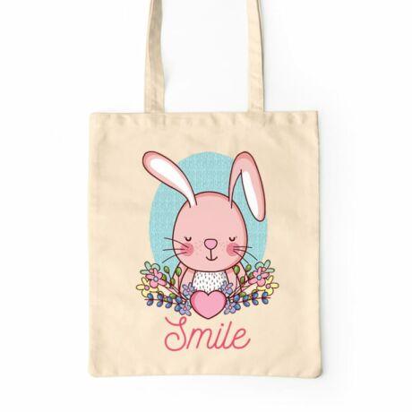 Smile nyuszis vászontáska
