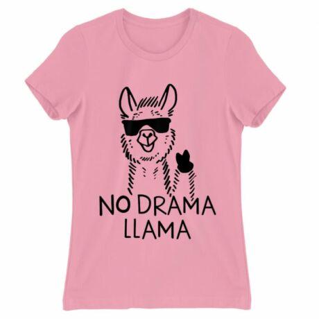 Lámás női póló rózsaszín