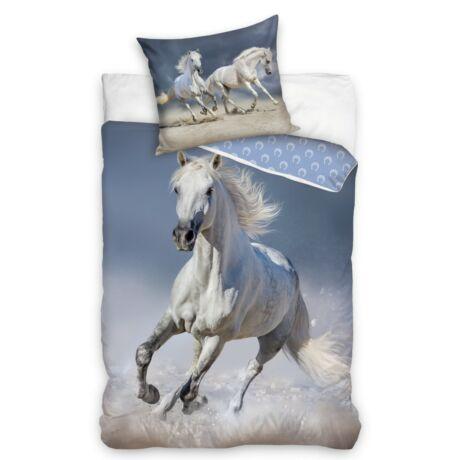 Fehér lovas ágyneműhuzat