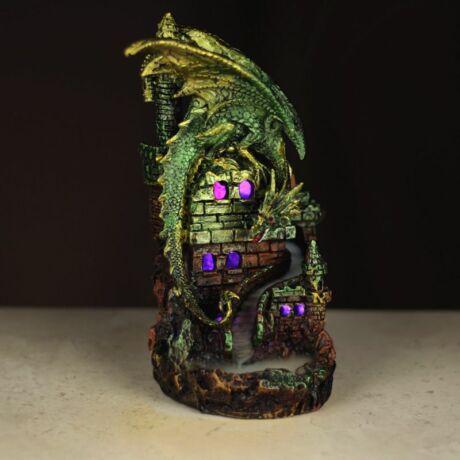 Sárkány kastély LED-es füstölőtartó