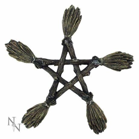 Pentagram boszorkányseprű falidísz