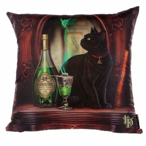 Lisa Parker - Absinthe Black Cat díszpárna