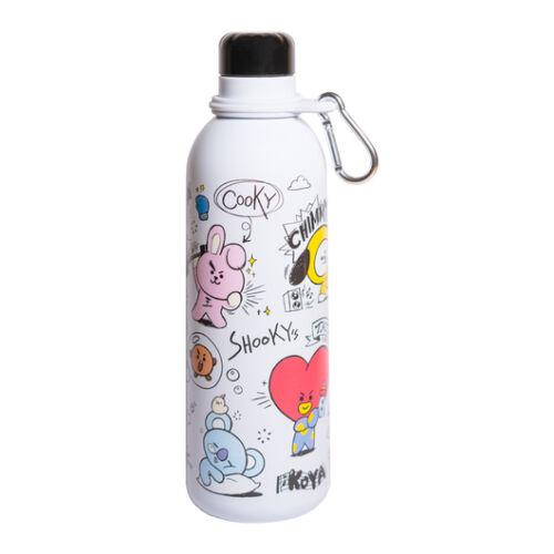 BT21 fém vizes palack