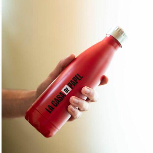 A nagy pénzrablás logó fém vizes palack