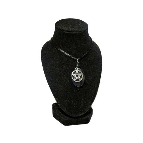 Ónix Pentagrama - Wicca medálos nyaklánc