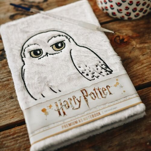 Harry Potter Hedwig jegyzetfüzet plüss borítóval