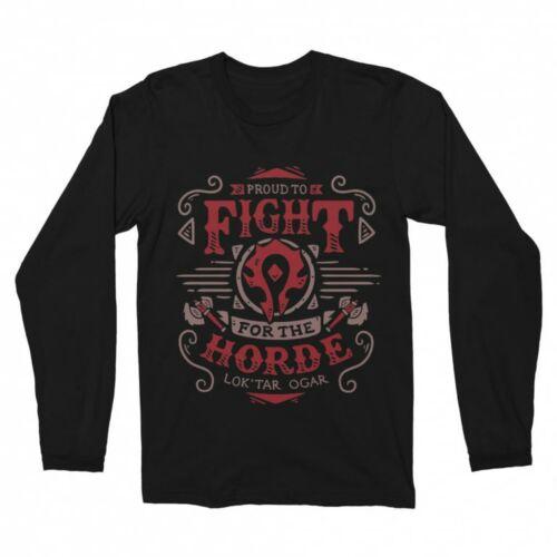 World of Warfcraft - Proud to fight for the horde férfi hosszúujjú póló