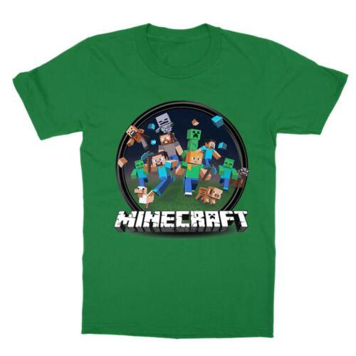 Minecraft Kerek logó gyermek póló