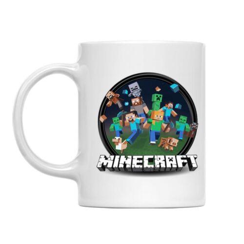 Minecraft kerek logó bögre