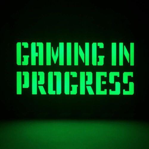 Gaming in progress hangulatvilágítás
