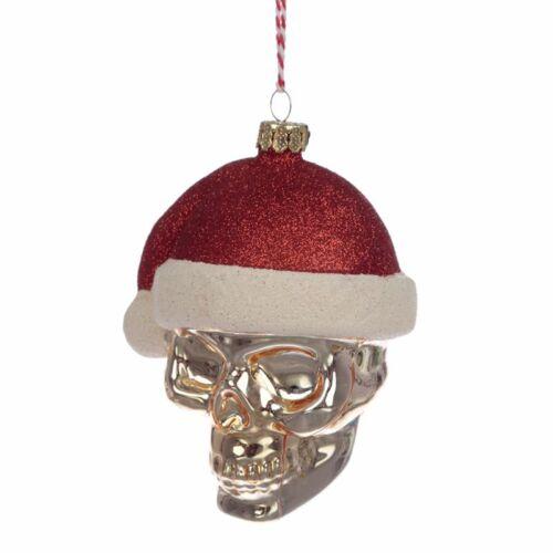 Koponyás télapó karácsonyfadísz