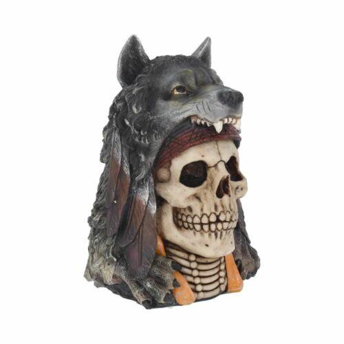 Farkas lélek koponya szobor