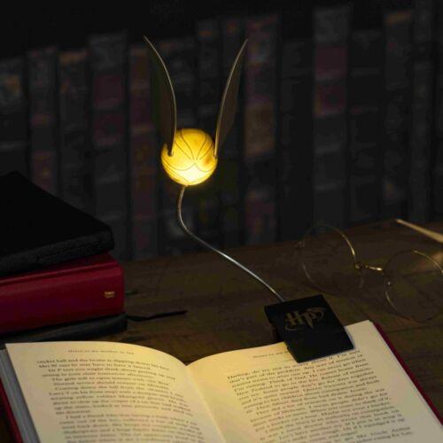 Harry Potter könyvre csiptethető aranycikesz olvasólámpa